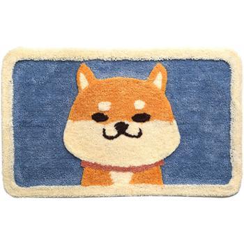 DEXI/得喜得喜卡通图案植绒地垫50*80cm地毯家用卫生间门口浴室防滑