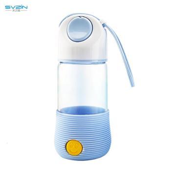 水之音韩版萌兔玻璃杯大口径高硼硅水杯时尚卡通设计带硅胶套儿童卡通杯