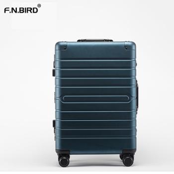菲恩堡 金属拉杆箱铝镁合金行李箱铝框万向轮20寸登机箱旅行箱子
