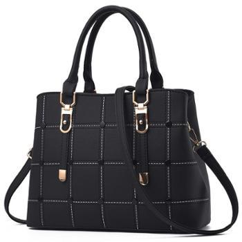 帕拉朵女士软面格子大容量手提包