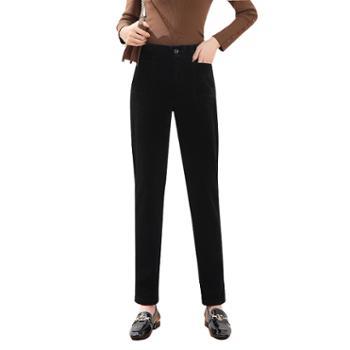 馨霓雅灯芯绒加绒小脚休闲裤JV8257