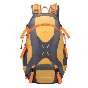 雷宾迪户外登山包大容量男女双肩包防水透气休闲情侣旅行背包40L16008