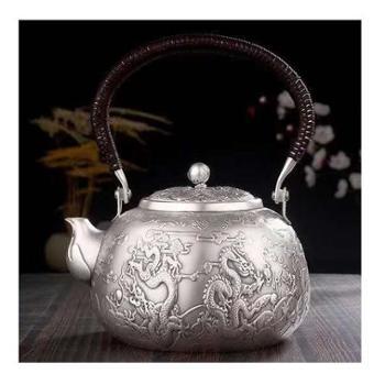 福恒金 足银壶 匠心工艺 一张打银壶 手工银壶 烧水壶 茶具