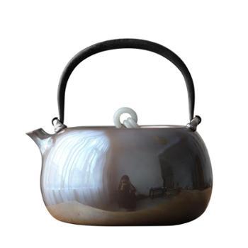 鹤川造物银壶纯银 烧水壶纯手工家用银壶 北村静香口打出银壶
