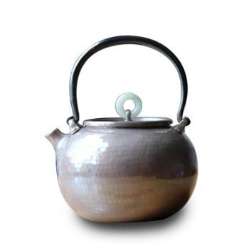 银壶纯银烧水壶【二款色可选】手工口打出铁提梁茶道一体小银壶
