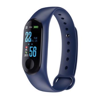 M3彩屏智能手环心率血压监测蓝牙计步运动手环【3款色可选】