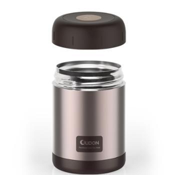 贝西 焖烧杯 OD-38A17粉灰色 小型饭盒 保温保冷