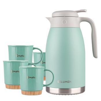 德鲁曼 威克森林杯壶套装 保温壶和马克杯五件套HB-2000