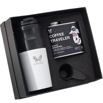 唯地 精品咖啡豆小型电动研磨一体咖啡机太空人礼盒套装 MG731D2套装