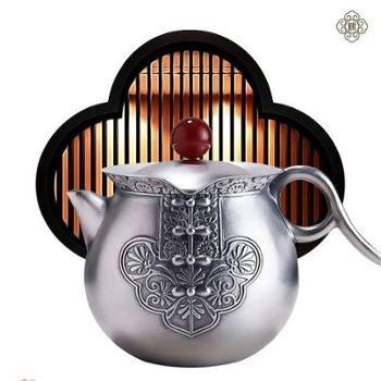 福恒金银器【锦绣前程茶具】银壶套装
