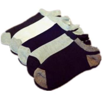 哈伊费舍男士全棉短袜船袜男袜子均码2双装