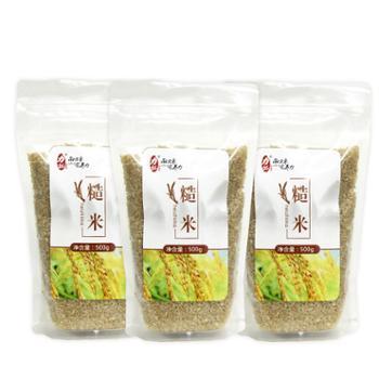 力拓稻源香 糙米 含胚芽糙米 500g*3
