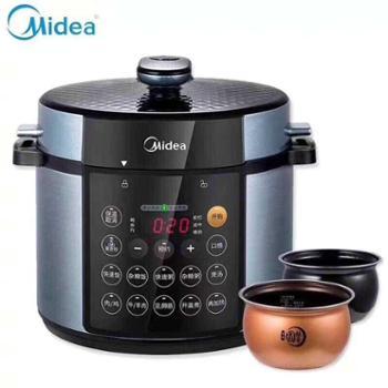 美的智能电压力锅厨房家用电高压锅具双胆5LMY-YL50Simple107