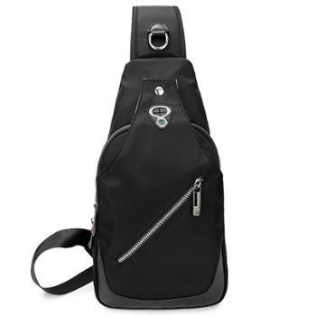 SWIMADE瑞制RZ-1026黑色胸包男士防泼水牛津布斜跨挂包休闲运动腰包