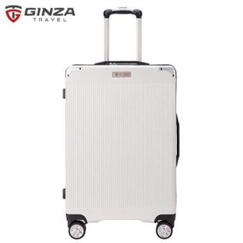 银座GINZA28寸欧美出口男女纳米铝合金包角拉杆箱A-9011L