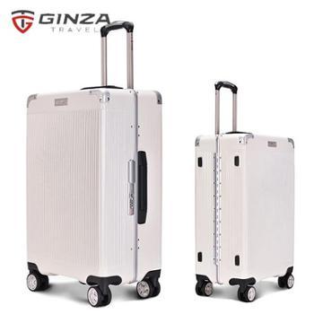 银座/GINZA24寸欧美出口商务铝框万向轮拉杆箱包角旅行箱A-9011K