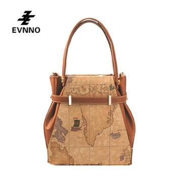 意威诺(evnno)手提斜挎包大容量限量地图款式B226-16