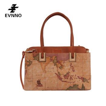 意威诺(evnno)单肩手提斜挎包大容量限量地图款式B819-16