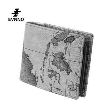意威诺(evnno)情侣款对折短款钱包情侣款限量地图款式Q1015-16