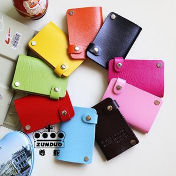 高质量单个韩版创意时尚旋转卡包10卡位卡包防消磁银行卡套信用卡包名片夹卡片包