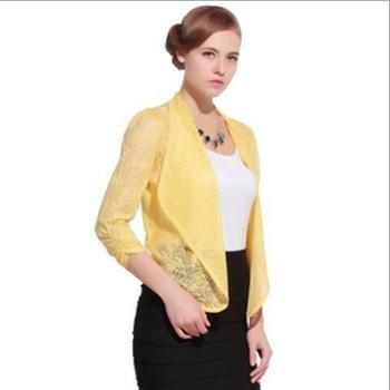 夏季女装毛衣空调开衫镂空蕾丝针织衫