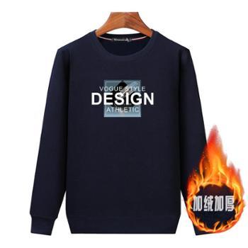 Aeroline秋冬新款T恤长袖休闲厚款宽松保暖套头卫衣