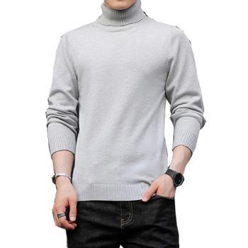 Aeroline高领毛衣男保暖针织毛套衫休闲青年针织衫韩版潮