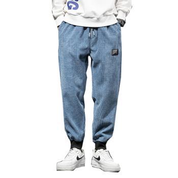 柏誉/Aeroline 男士休闲裤 大码休闲工装束脚长裤子