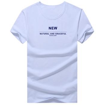 柏誉/Aeroline 男士T恤 夏季圆领短袖印花上衣