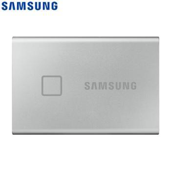 三星/SAMSUNG PC台式计算机电脑笔记本移动硬盘 T7 Touch PSSD NVMe指纹加密