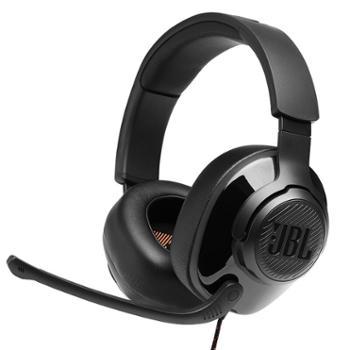 JBL 头戴式游戏耳机 手机电脑电竞有线带麦克风耳麦 QUANTUM300