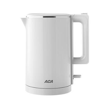 北美电器/ACA 双层电热水壶 烧水壶 304不锈钢防烫电水壶 ALY-SH152JA