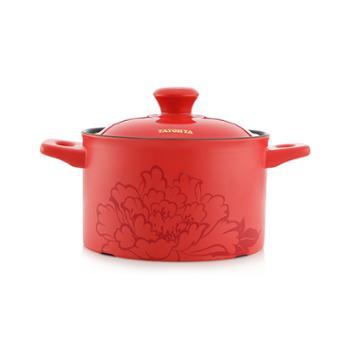 多样屋 盛世牡丹 耐热陶瓷深汤锅 TA010101026ZZ