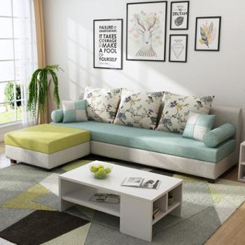 沙发布艺沙发现代三人组合小户型可拆洗布沙发