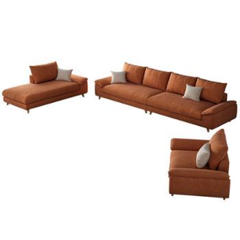 科莱斯克北欧松木框架乳胶四人位整装直排免洗沙发