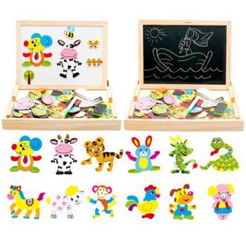 木丸子儿童磁性拼图益智积木玩具