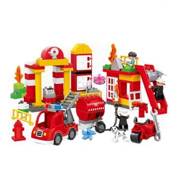 惠美积木消防总动员拼装益智玩具
