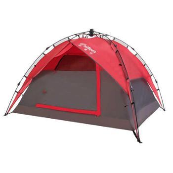 欧德仕全自动帐篷户外3-4人套装家庭露营野营装备防雨野外便携