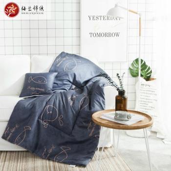 梅兰锦绣抱枕被子两用汽车抱枕被空调被多功能折叠办公午休被FSZ-ins风抱枕被