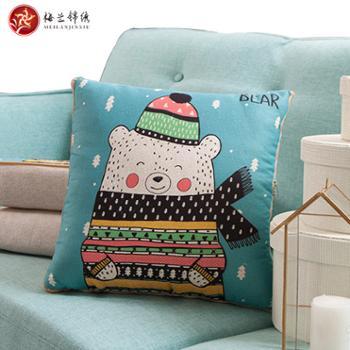 梅兰锦绣时尚印花可水洗磨毛抱枕FSZ-北欧印花50×50cm