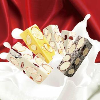 台湾特产手礼原装进口毛老爹蔓越莓起司综合软糖杏仁牛轧糖果零食