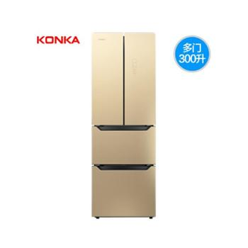 Konka/康佳 BCD-300EGX4SU多门冰箱家用四门电冰箱法式多开门冰箱