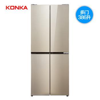 KONKA/康佳386升十字对开家用冰箱
