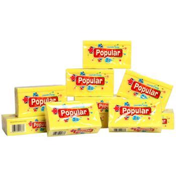 泡飘乐进口popular多用途洗衣尿布内衣皂柠檬味特惠组合250g10块