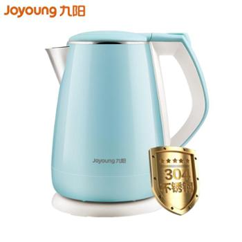 Joyoung/九阳电热水壶食品级304不锈钢不锈钢1.5L双层防烫K15-F23水蓝色