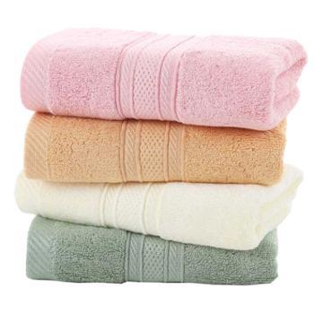 雅渲加厚竹纤维毛巾4条装