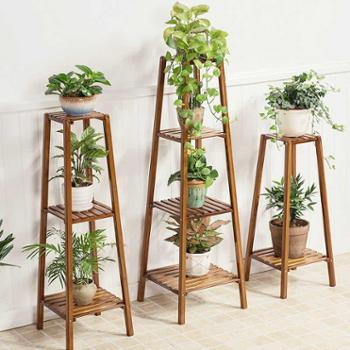 创意客厅木质花架室内花架多层实木阳台花盆架花架子