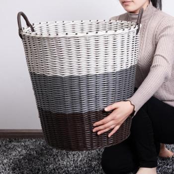 塑料藤编家用收纳脏衣篮