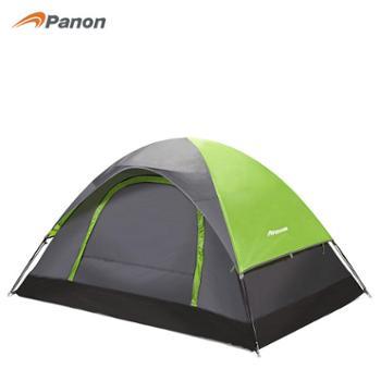 攀能户外露营双人双层帐篷遮阳挡雨透气防蚊绿色帐篷PN-2261