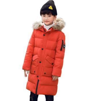 童装羽绒服儿童男童长款韩版大毛领中大童中长款巴1815